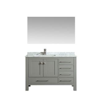 Eviva London 38 in. Transitional Gray vanity