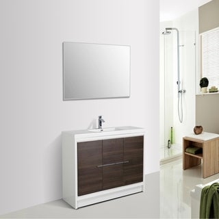 Eviva Grace 60 in. Gray Oak and White Vanity