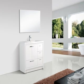 Eviva Grace 42 in. White Vanity with Countertop