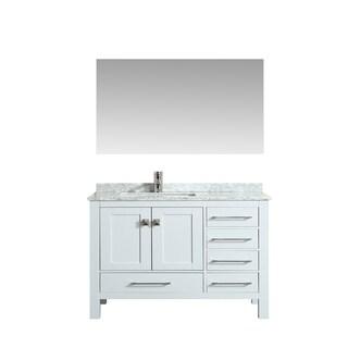 Eviva London 38 in. Transitional White vanity