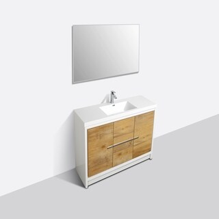 Eviva Grace 48 in. Natural Oak and White Vanity
