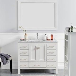 Eviva London 42 in. Transitional White vanity