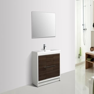 Eviva Grace 36 in. Gray Oak and White Vanity