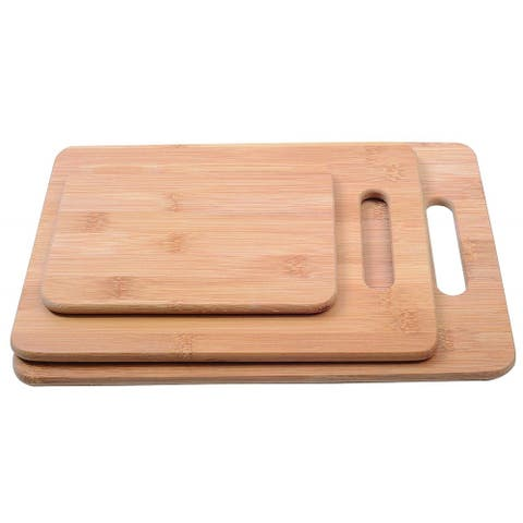 Melange Warp-Resistant Bamboo Cutting Board Set of 3, (Large, Medium & Small)