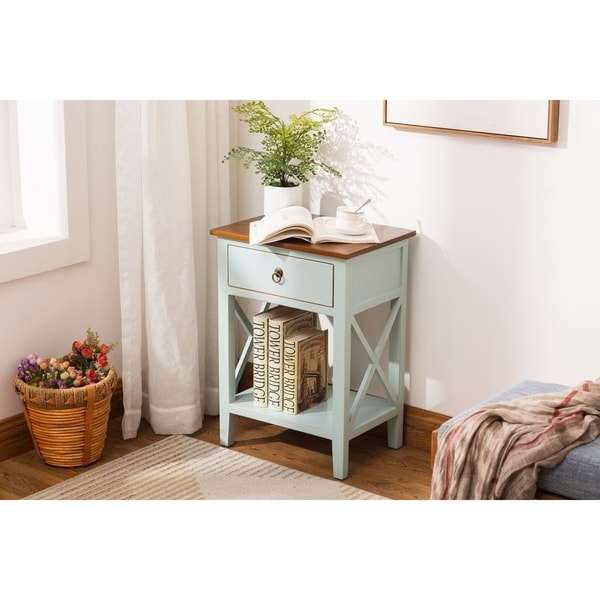 Shop Porthos Home Unique Side Table Cabinet With Drawer