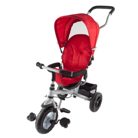 Lil Rider 4-in-1 Tricycle Stroller Multistage Convertible Trike for Toddlers and Babies to Learn to Ride