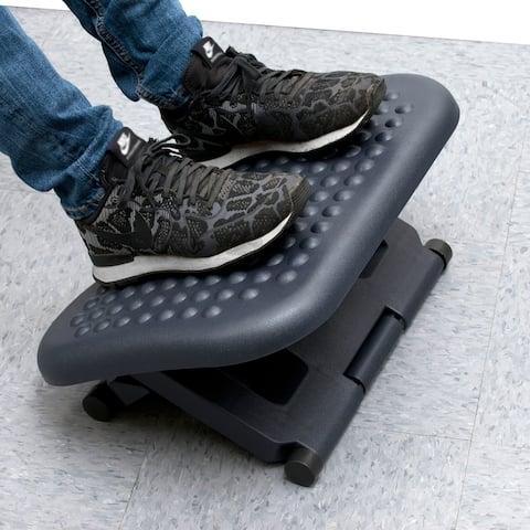 Mind Reader 3 Position Adjustable Height Ergonomic Foot Rest, Black