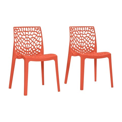 Espenberg Resin Armless Indoor/Outdoor Dining Chairs (Set of 2) by Havenside Home