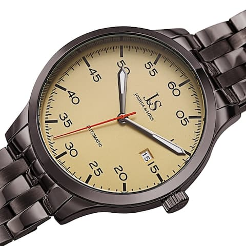 Joshua & Sons Men's Date Automatic Stainless Steel Bracelet Watch
