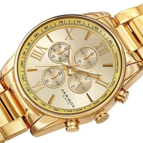 Akribos XXIV Men's Chronograph Tachymeter Quartz Bracelet Watch