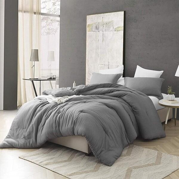 Croscutt - Cavern Gray - Oversized Comforter - 100% Cotton Bedding