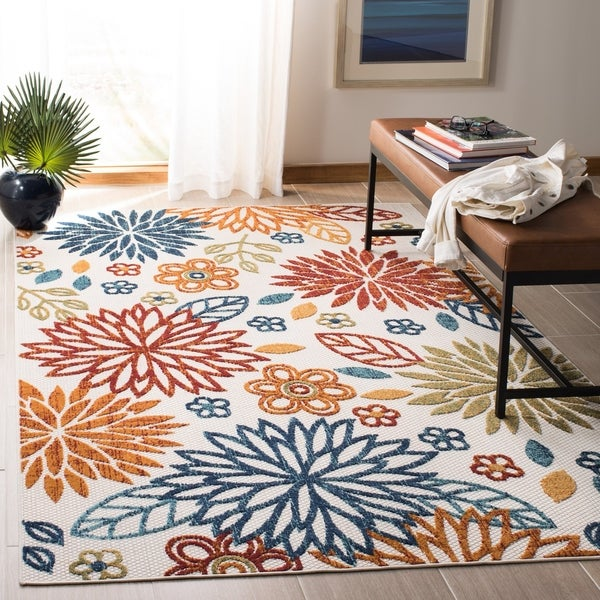 Safavieh Cabana Indoor/ Outdoor Lyla Floral Polyester Rug