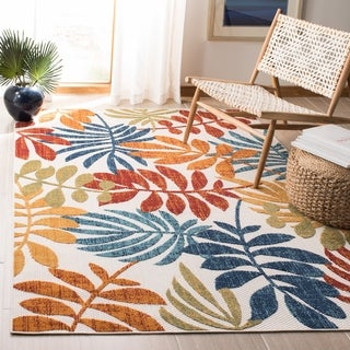 Safavieh Cabana Indoor/ Outdoor Laila Floral Polyester Rug