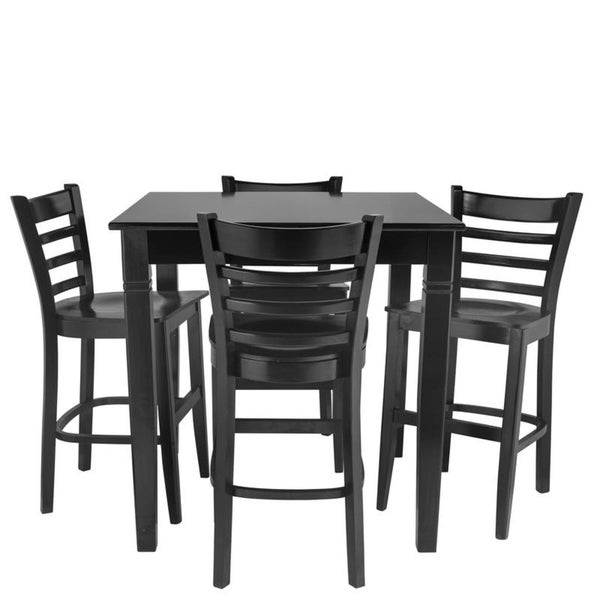 5 PC Counter Height Dining Set Black