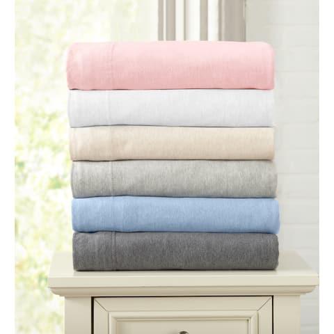 Extra Soft Heather Cotton Jersey Knit Pillowcase Set