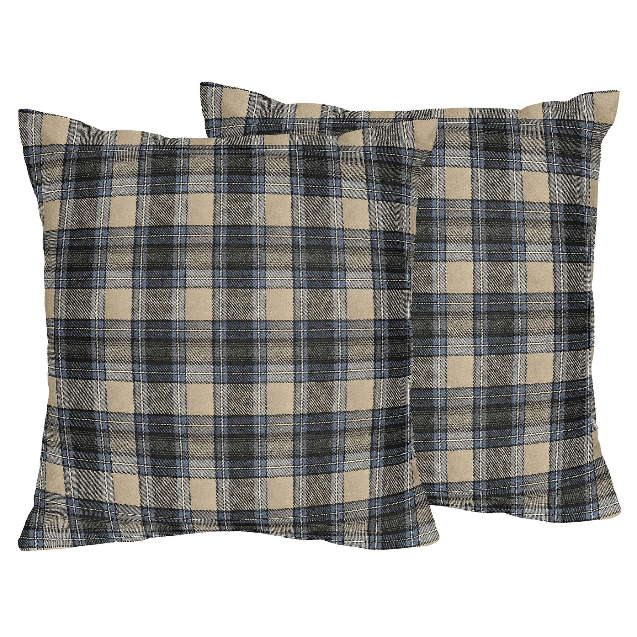 Sweet Jojo Designs Plaid Flannel 18 Inch Decorative Throw Pillows Set Of 2 Overstock 27278690
