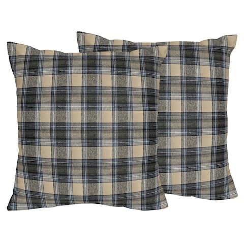 Sweet Jojo Designs Plaid Flannel 18-inch Decorative Throw Pillows (Set of 2)
