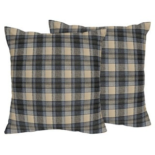 Sweet Jojo Designs Plaid Flannel 18-inch Decorative Throw Pillows (Set of 2)