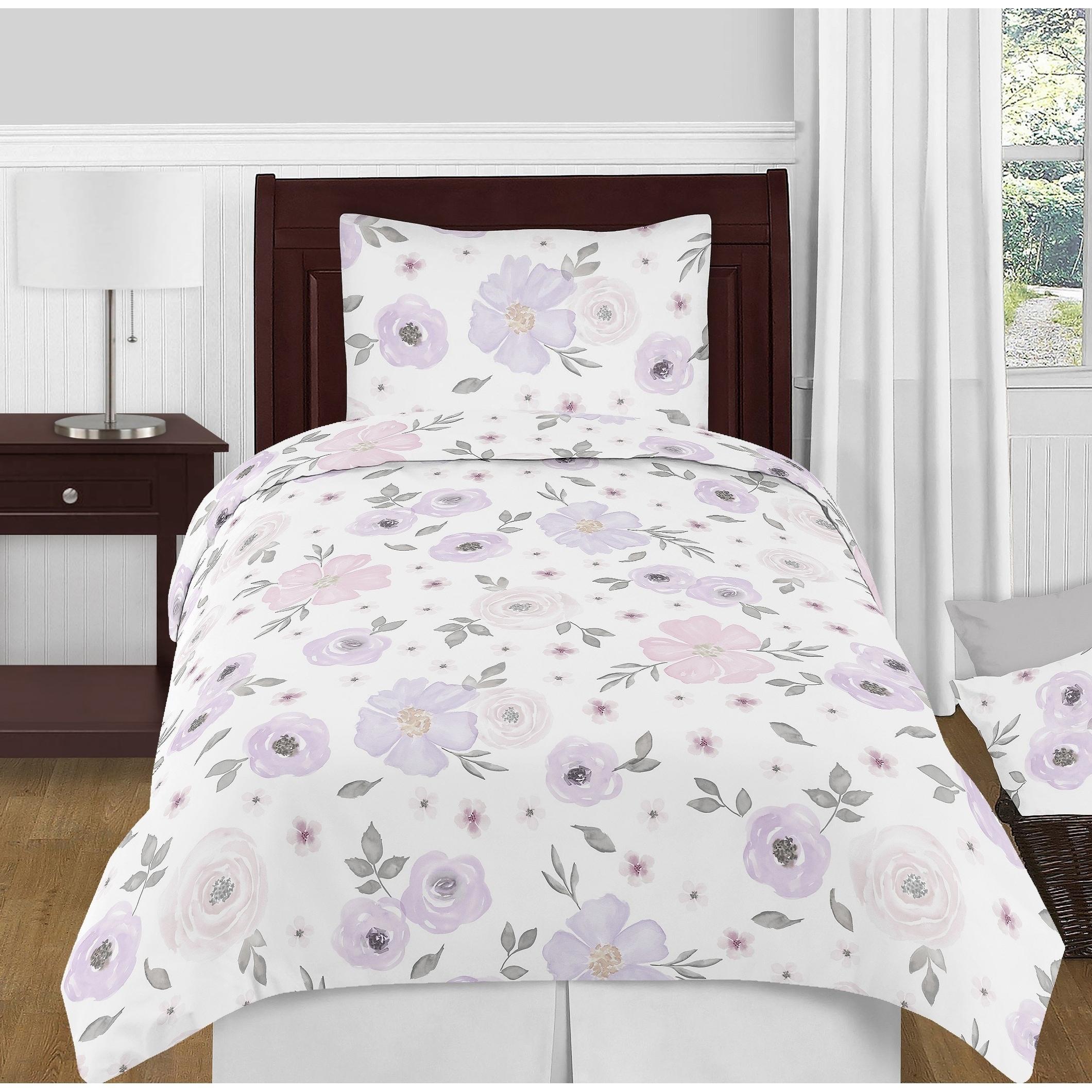 Shop Sweet Jojo Designs Lavender Purple Pink Grey White Shabby
