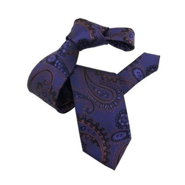 DMITRY Mens Purple Patterned Italian Silk Tie