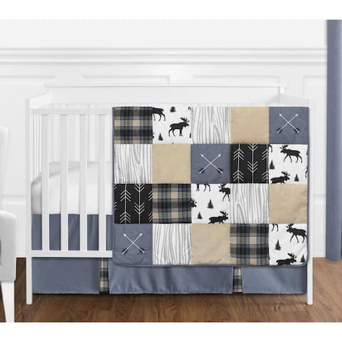 Sweet Jojo Designs Multicolor Patch Collection 4-piece Nursery Crib Bedding Set