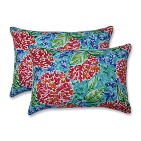 Garden Blooms Multi Over-sized Rectangular Throw Pillow (Set of 2)