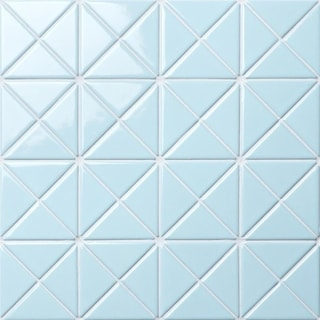 SomerTile 10.125x10.125-inch Tri Crossover Powder Blue Porcelain Mosaic Floor and Wall Tile (10 tiles/7.3 sqft.)
