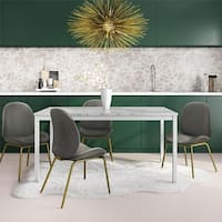 CosmoLiving Greta 60-inch Faux Marble Top Dining Table - Grey - N/A