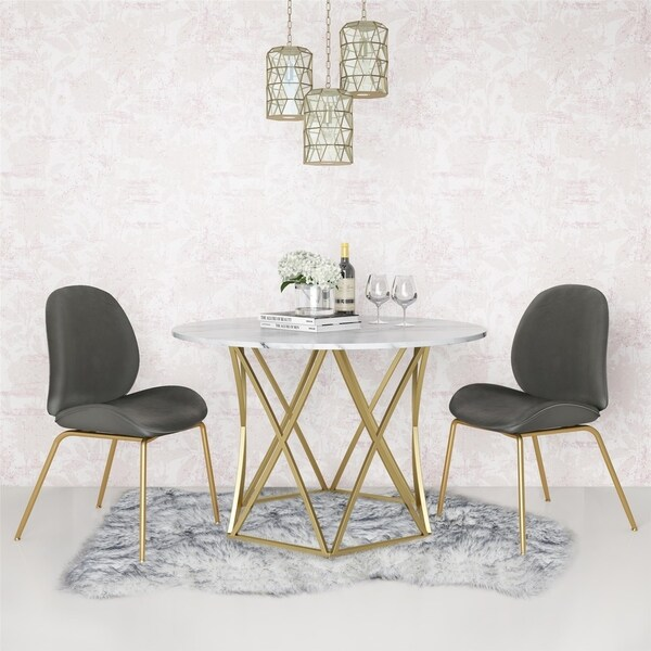Cosmoliving Elle Round Dining Table On Ships