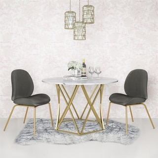 CosmoLiving Elle Round Dining Table
