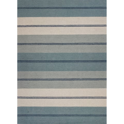 Domani Bryant Ivory/Blue Striped Area Rug