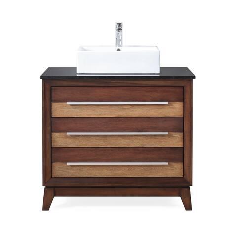 """36"""" Tennant Brand Stoughton Vessel Sink Urban Bathroom Vanity"""