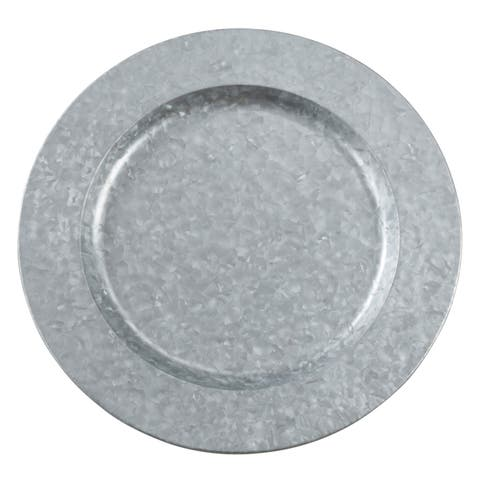 Polished Galvanized Metal Charger Plates (Set of 4)