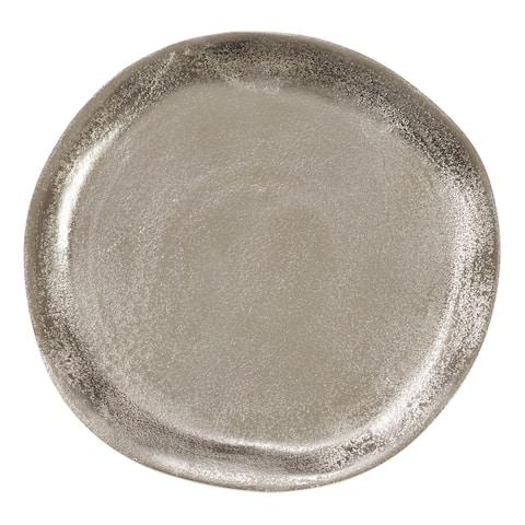 Saro Lifestyle Aluminum Charger Plates (Set of 4)