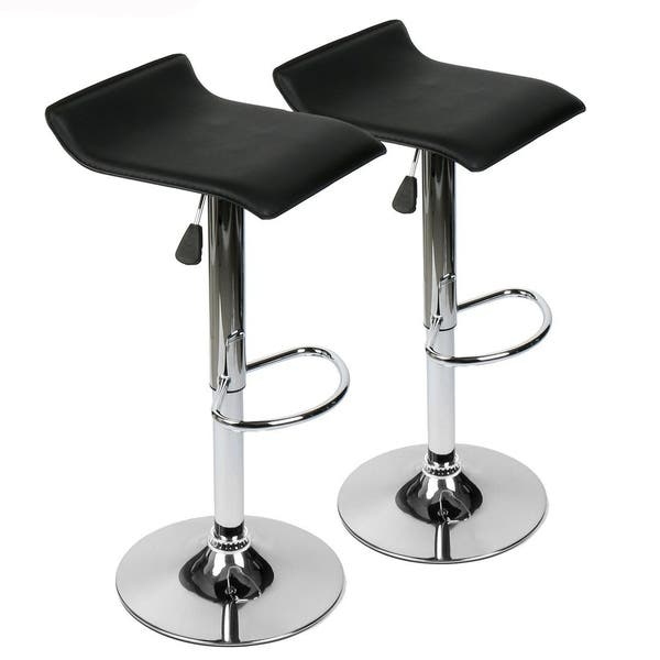Amazing Shop Set Of 2 Contemporary Faux Leather Adjustable Height Gmtry Best Dining Table And Chair Ideas Images Gmtryco