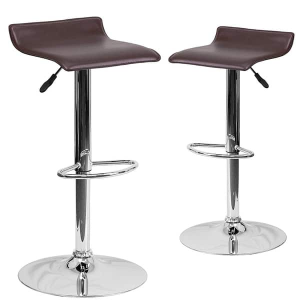 Super Shop Set Of 2 Contemporary Faux Leather Adjustable Height Gmtry Best Dining Table And Chair Ideas Images Gmtryco