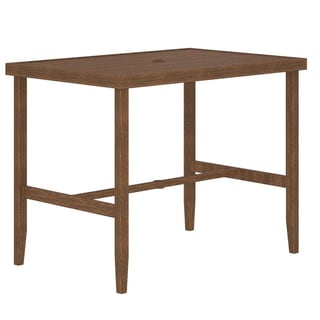 Porch & Den Ambiance Steel Patio Bar Table
