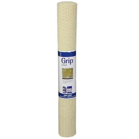 Magic Cover Grip Non-Adhesive Shelf Liner, Natural, 18-Inch by 5-Feet, Pack of 6