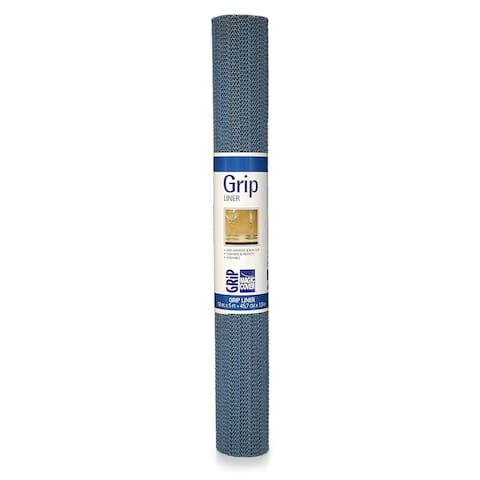 Magic Cover Grip Non-Adhesive Shelf Liner, 18-Inch by 5-Feet, Country Blue, Pack of 6