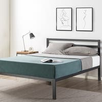14-inch Heavy Duty Metal Platform Bed with Headboard/Wooden Slat Support/Mattress Foundation(No Box Spring Needed)