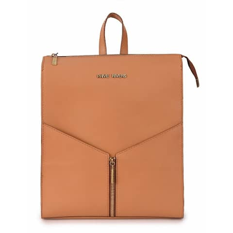 Handmade Phive Rivers Women's Leather Tan Backpack - One Size