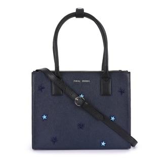 Handmade Phive Rivers Women's Leather Navy Handbag