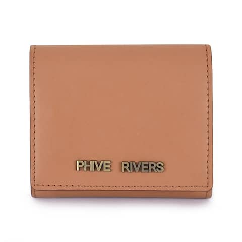 Handmade Phive Rivers Women's Tan Leather Wallet - Small