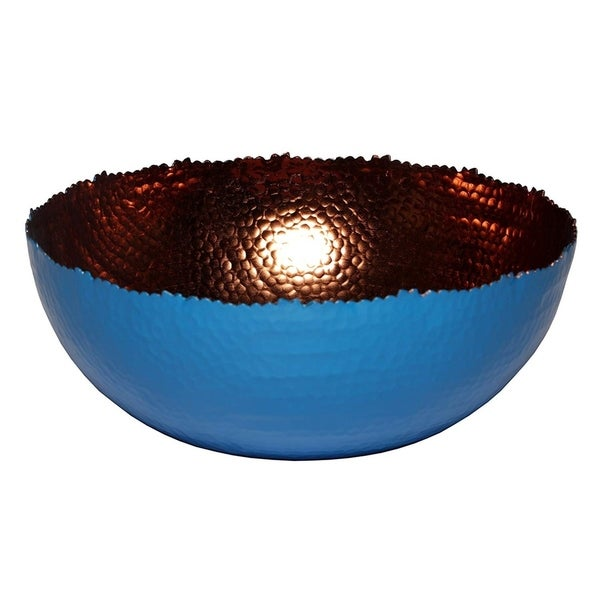 Melange Home Decor Cuivre Collection, 6-inch Bowl, Color - Blue