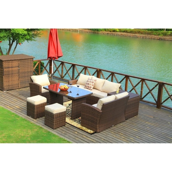 Outdoor Wicker Sectional Sofa For Sale: Shop 7-Piece Outdoor Sofa Set Wicker Patio Sectional