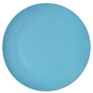 Melange 6-Piece Melamine Salad Plate Set (Solids Collection ), Color: Blue