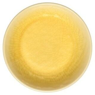 Melange 6-Piece 100% Melamine Salad Plate Set (Crackle Collection), Color: Sunflower