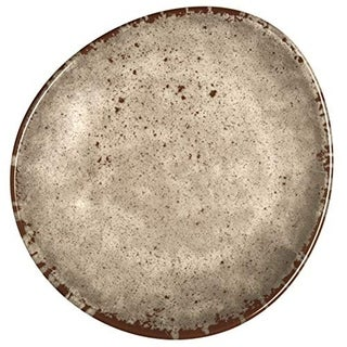Melange 6-Piece 100% Melamine Salad Plate Set (Rustic Egg Collection), Color: Cement