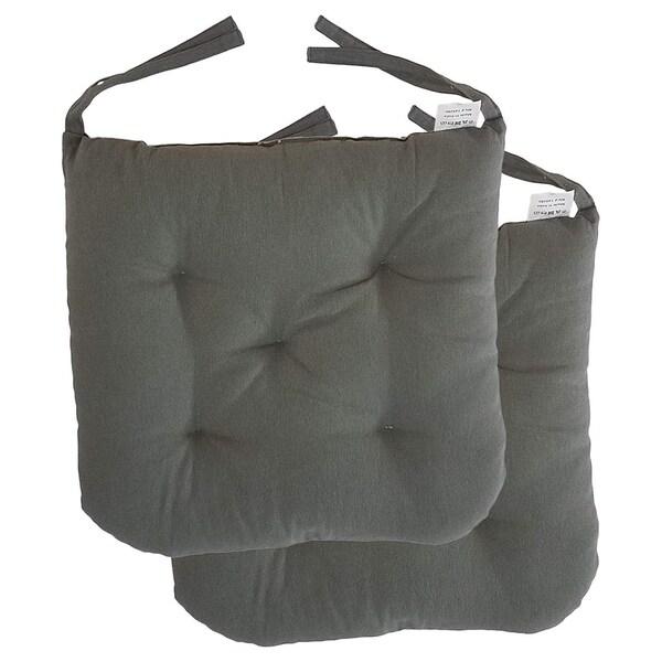 Shop Cottone 100 Cotton Chair Pads W Ties Set Of 2 16