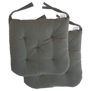 """Cottone 100% Cotton Chair Pads w/Ties (Set of 2)